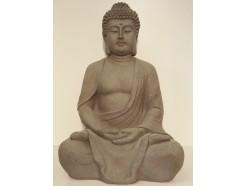 "G1058L-G Garden boeddha ""lotus"" large. Hoogte : 62 cm. Granite."
