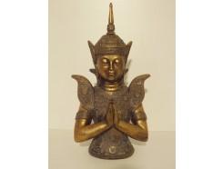 P1035540 Poly. Borstbeeld Thai boeddha biddend 40 cm.