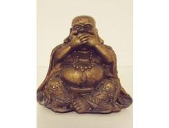 "P1035555C Poly. Boeddha lucky ""zwijgen"" brons mini"