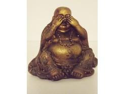 "P1035555B Poly. Boeddha lucky ""zien"" brons mini"