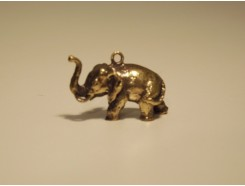 5582006 Brons. Bronzen mini olifant 1 x 2,5 cm.