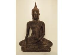 0141059 brons Thai boeddha xl. Hoogte 55 cm breedte 36 cm.