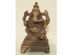 c9 brons ganesha mini zilverkleurig. Hoogte : 9 cm. breedte : 5,5 cm.