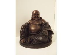 0141022 Brons boeddha lucky. Hoogte : 18,5 cm.
