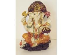 P1035585 Poly. Ganesha colour. Hoogte : 15 cm.