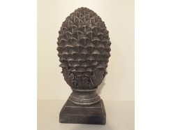 G541-AS Garden Pineapple hoogte 50 cm. Antique Silver.