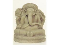 G1539M-G Garden Ganesha medium. Hoogte : 41 cm. breedte : 36 cm. Granite.
