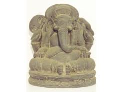 G1539M-DG Garden Ganesha medium. Hoogte : 41 cm. breedte : 36 cm. Dark-grey.