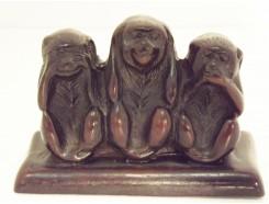 CD0722 Resin apen horen-zien-zwijgen. L x H : 9 x 6 cm.