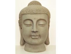 G522XL-G Garden. Boeddha hoofd Japan XL. H x B : 72 x 47 cm. Granite.