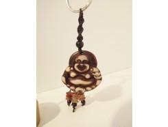 7102037 Sleutelhanger boeddha lucky met kralen 4,5 cm. Per 12 stuks verpakt. Prijs is per 12 stuks.