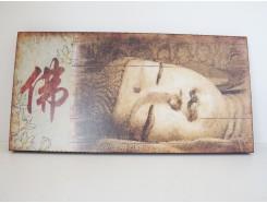 HP010 wandpaneel liggende boeddha 60 x 30 cm. 40 % korting.