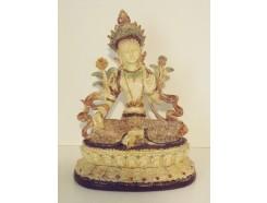 P1035583 Poly. Boeddha Tara ivoor. Hoogte : 17 cm.