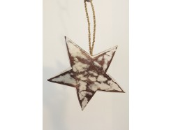 H2030314 Wood. Wooden star whitewash 3-d. Diameter : 15 cm.