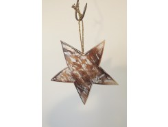H2030315 Wood. Wooden 3-d star whitewash. Diameter : 25 cm.