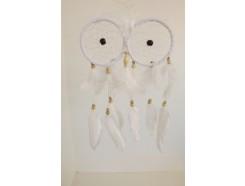 8530095 Dreamcatcher. Dreamcatcher double white circles. Length : 36 cm. width : 18 cm.
