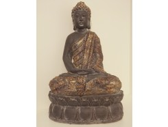"P1038-8 Poly. Boeddha ""lotus"" Large Asian gold. Hoogte : 63 cm."