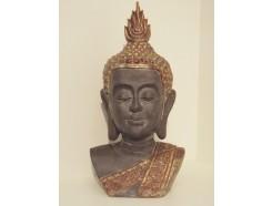 P1038-11 Poly. Buste boeddha Asian gold. Hoogte : 65 cm.