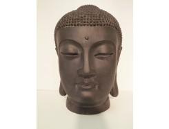 G522-DG garden hoofd boeddha Japan. Hoogte : 42 cm. Dark-grey.