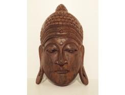 2330041 Masker boeddha hout. Lengte : 50 cm.