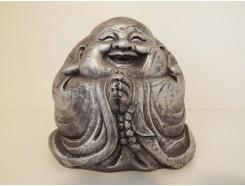 G643-AS Garden boeddha lucky zittend. Hoogte : 20 cm. Antique-Silver.