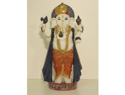 P1035355 Poly. Coloured standing ganesh. Height : 23 cm.