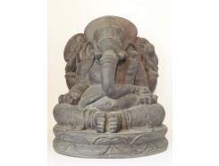 G1539-DG Garden Ganesha XL. H x B : 65 x 54 cm. Dark-grey.