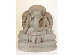 G1539-G Garden Ganesha XL. H x B : 65 x 54 cm. Granite.