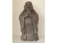 G1640-G Garden lucky boeddha biddend. Hoogte : 59 cm. Granite.
