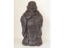 G1640-DG Garden lucky boeddha biddend. Hoogte : 59 cm. Dark-grey.
