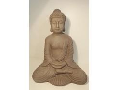 """G1849-G Garden. Boeddha """"lotus"""" hoogte 43 cm. Granite."""