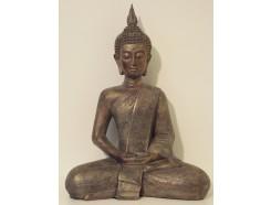 P1035512 Poly. Zittende Thai boeddha. Hoogte : 42 cm.