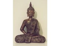 P1035513 Poly. Zittende boeddha Thais. Hoogte 29 cm.