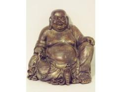 P1035507 Poly. Zittende boeddha dikbuik large. Hoogte : 29 cm.