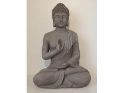 G817M-G Garden boeddha abhayamudra medium. Hoogte : 40 cm. Granite.