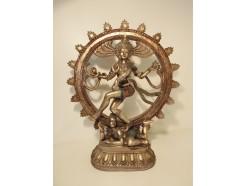 P1035558 Poly. Shiva bronskleurig diameter 30 cm. Hoogte 35 cm.