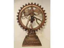 P1035560 Poly. Shiva Large bronskleurig. Diameter 45 cm. Hoogte : 64 cm.