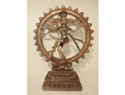P1035559 Poly Shiva medium bronskleurig. Diameter 37 cm. Hoogte : 46 cm.