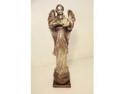 P1035798 Poly. Aartsengel Gabriël met harp. Religious. Hoogte : 36 cm.