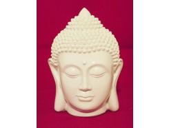 P1035328 Poly. Hoofd boeddha wit. Hoogte :15 cm.