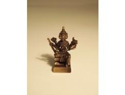 """5582002 Brons. Bronzen boeddha """"4 gezichten"""" 3,5 cm. hoog."""