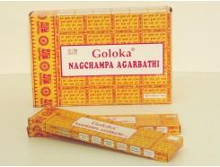 W8355204 Wierook Nag Champa Goloka. Box met 12 pakjes.